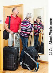 para, bagaż, dojrzały