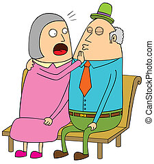 para, datując, stary