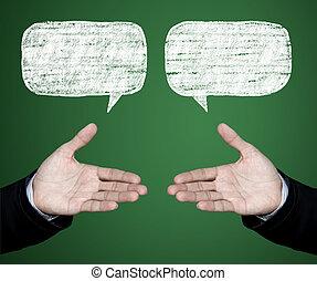 para, discuta, negotiations.