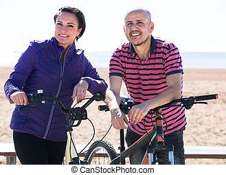 para, dojrzały, bicycles