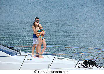 para, jacht, młody