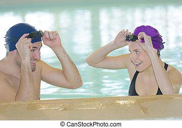 para, kałuża, pływacki