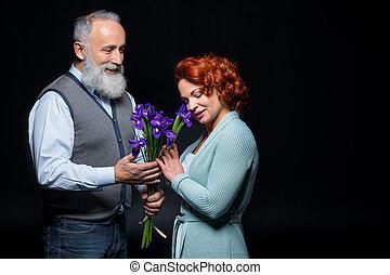 para, kwiaty, dojrzały
