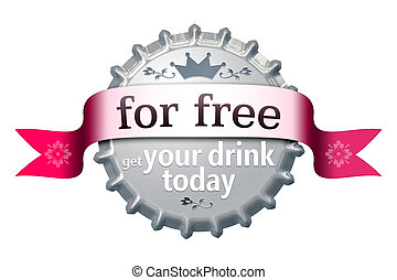 para, libre, tapa de botella