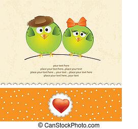 para, miłość ptaszki