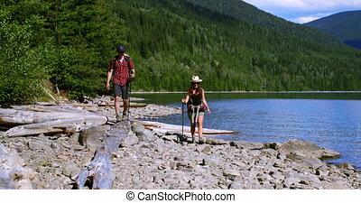 para, nadrzecze, 4k, wycieczkowicz, hiking