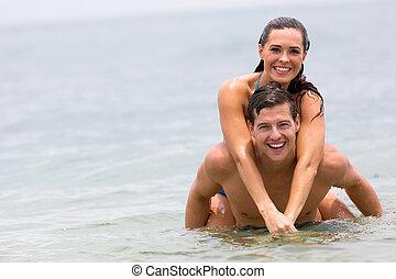 para, pływacki, ocean