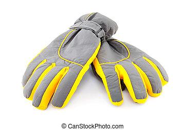 para, rękawiczki narty, barwny