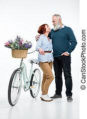 para, rower, dojrzały