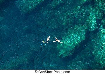 para, snorkeling, nad, prospekt morza