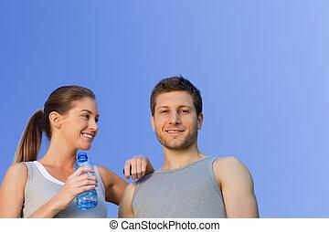 para, sporty, szczęśliwy