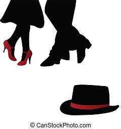 para, tancerze, czerwony, accesories