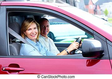 para, wóz., senior, szczęśliwy