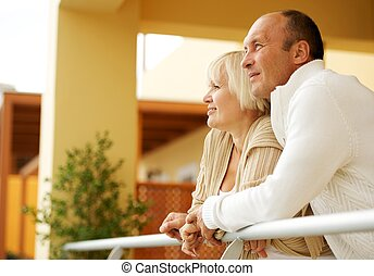 para, wiek średni, outdoors