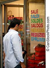 para, zakupy, okno