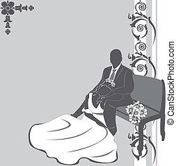 para, zaproszenie, ślub