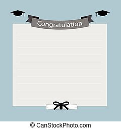 parabéns, bandeira, graduação