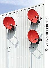 parabólico, antena