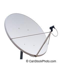 parabólico, comunicación, antena