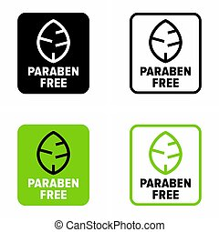 """Paraben free"" preservative lack information sign"