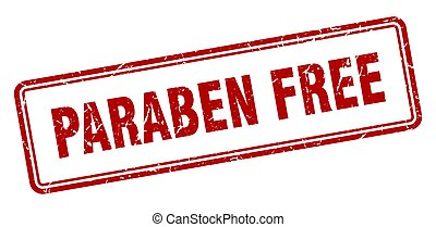paraben free stamp. square grunge sign on white background