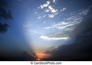 Parabola of the sundowns rays