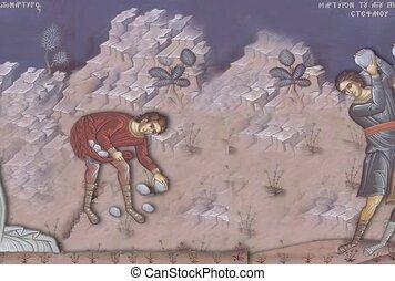 parabole, stoning