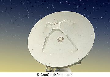 Parabolic antenna with stars behind it - Parabolic antenna...