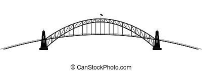 parabolico, ponte, contorno, openwork