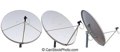 parabolique, communication, antenne