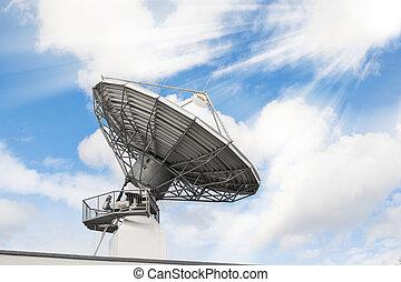 parabolique, radar, radio, télécommunications, antenne