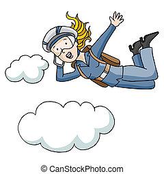 paracaídas, corporación mercantil de mujer