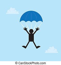paracaídas, figura