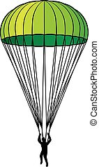 paracaídas, icono