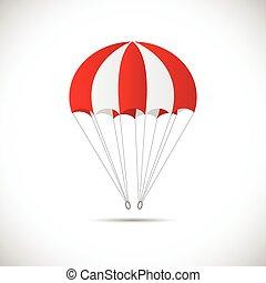 paracaídas, ilustración
