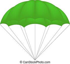 paracaídas, verde, diseño