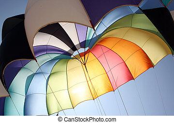 parachute, couleurs, fond