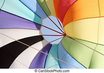 parachute, couleurs