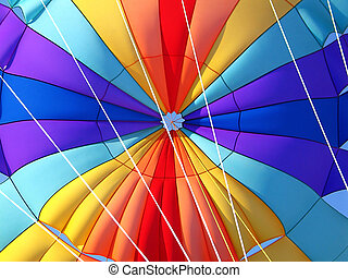 parachute, détail
