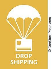 parachute, goutte, expédition