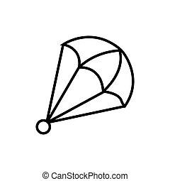 parachute icon vector illustration photo