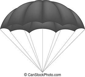Parachute in black design