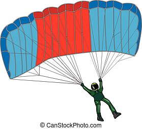 parachute isolated