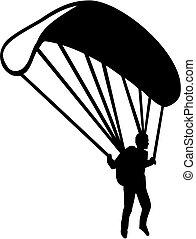 Parachuter silhouette