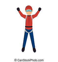 parachutist man falling