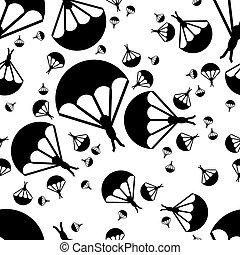 parachutiste, modèle, seamless