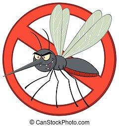 parada, carácter, mosquito