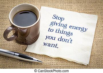 parada, dar, energia, para, coisa, tu, faça, não, querer