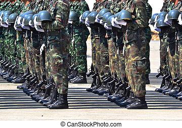 parada, exército