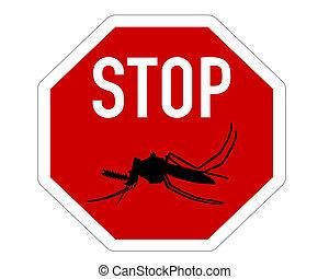 parada, mosquitos, señal